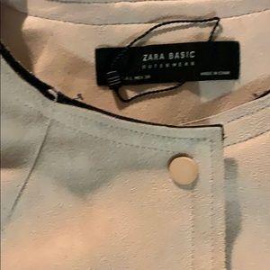 Zara Jackets & Coats - Zara pink suede mid length jacket